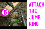 Soldering the Jump Ring on Soldered glass jewelry