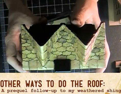 Miniature House Roof Shingles