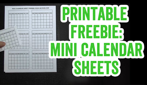 Printable Freebie: Mini Calendars