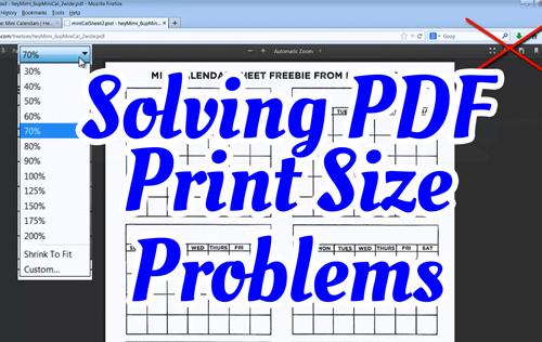 Solving PDF Print Size Problems