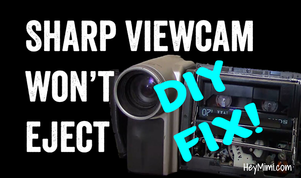 Release a Stuck 8mm Tape from an Old Sharp Viewcam