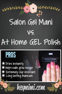 At-Home GEL Manicure vs. Salon Gel Mani