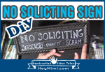 DIY Hand lettered No Solicting Sign