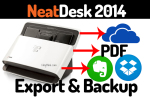 Backup and Export from NeatDesk
