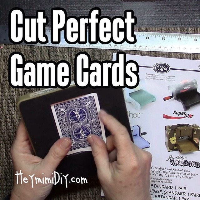 DIY Die Cut Playing Cards, Trading Cards & ATCs